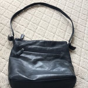 Soft leather shoulder bag, gently used condition